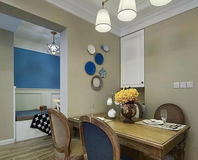 美式简约小清新,86平两居室装修!江水平装修样板房展示
