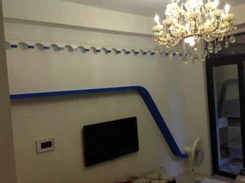 几种装饰方法轻松打造出个性化电视背景墙