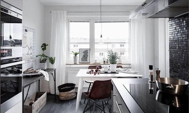 开放式的厨房设计,二手房厨房装修油烟问题!