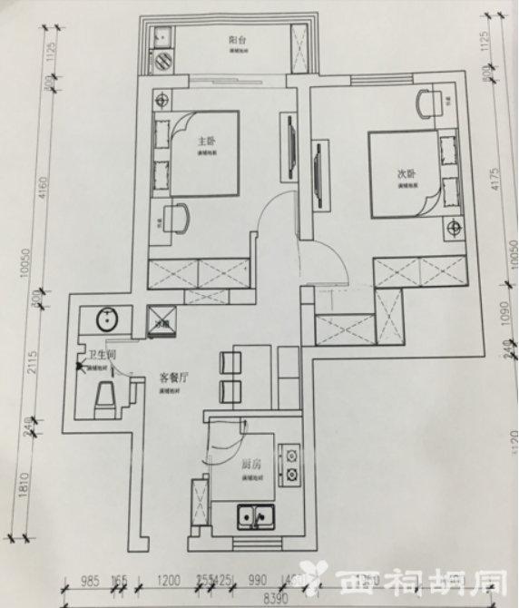 南京蔡家花园65平老房改造,暗室改造新方法