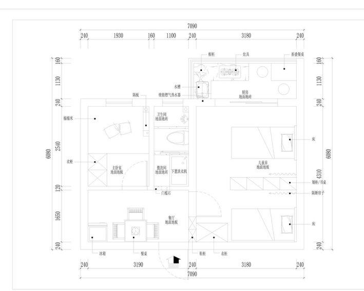 南京37平单室套,自行改造两居室效果
