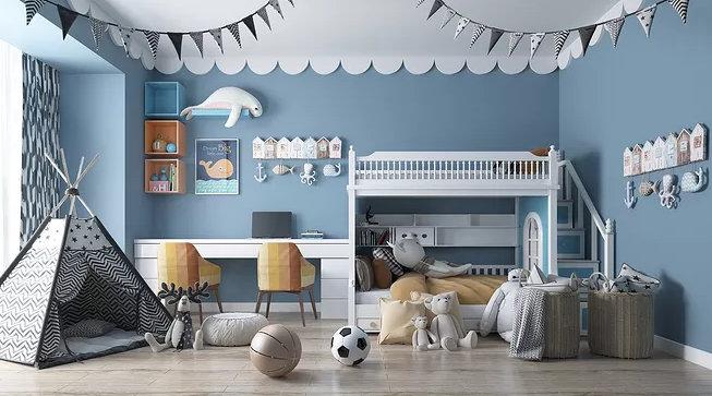 儿童小卧室简约装修,能够注意到这几点的,效果和安全都会很好