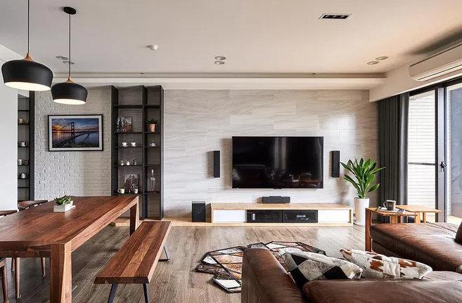 电视背景墙有哪些设计?可以舒服到打滚的客厅