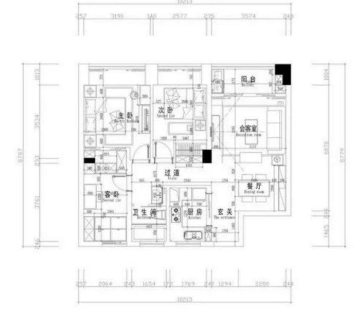 89平三居室混搭风,布局和设计证实,小户型收纳充足才是硬道理