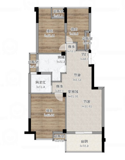 南京紫金华府98平简约装修效果和设计,有效利用空间,非常实用!