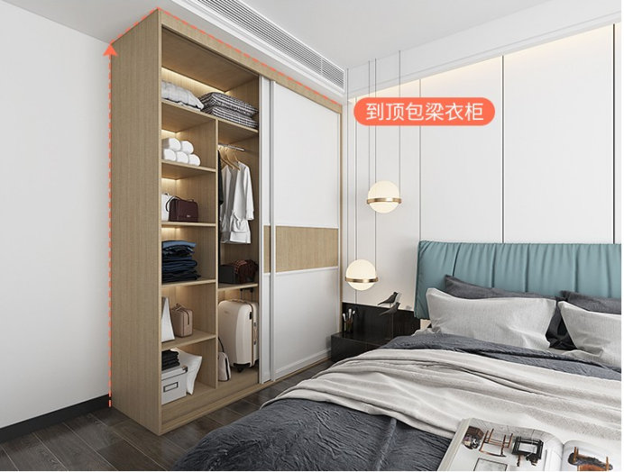 如何利用衣柜有限的空间,布局简洁大方很实用,你家要不要试试