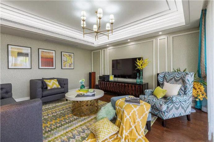 290平四室两厅欧式装修案例,大气奢华有韵律,质朴的现实生活