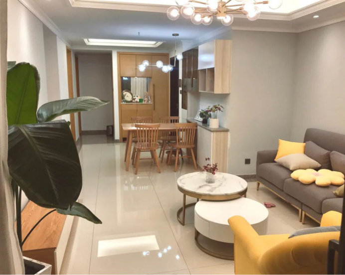 南京天润城装修案例,89平温馨又从容,三居室的房子越看越有味