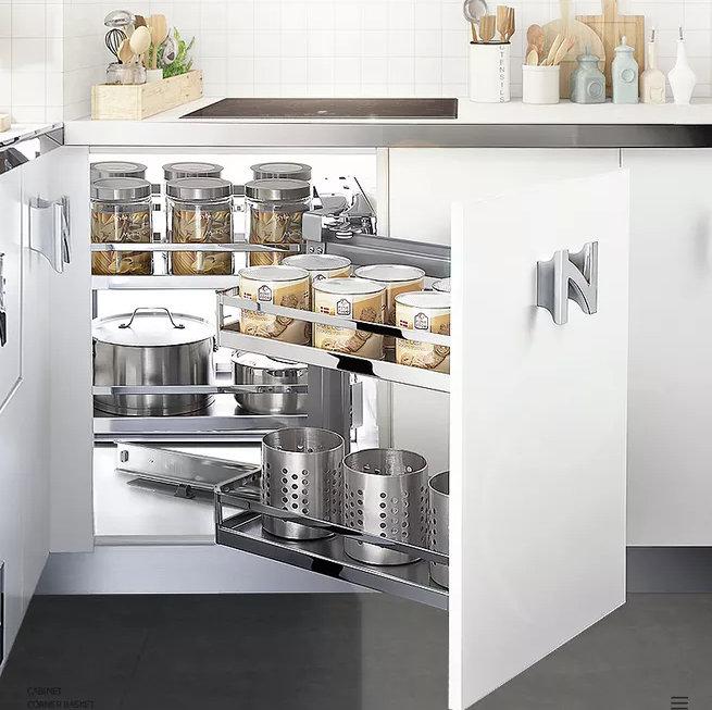 南京厨房装修,这样的橱柜转角布局,办法都是想出来的