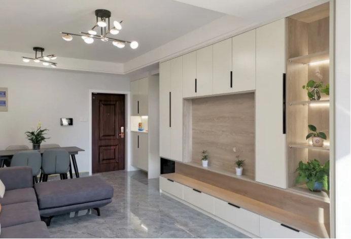 南京紫艺华府装修案例,96平的三室一厅,业主实用的布局细节处理