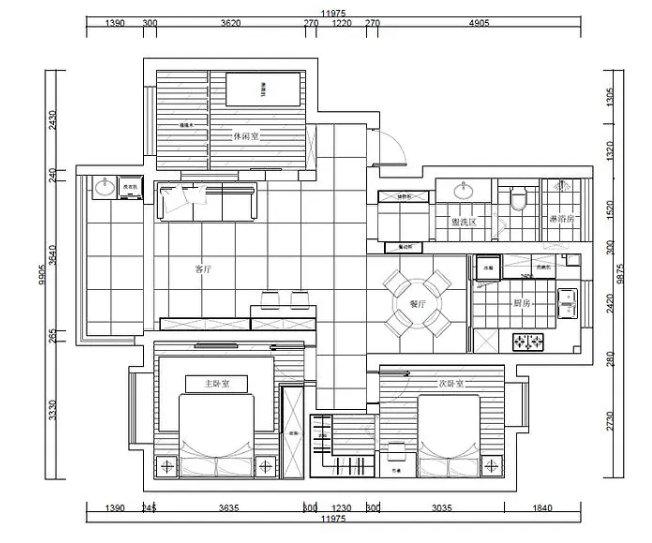 南京兴都花园装修案例,110平的三室两厅,满足需求的布局设计